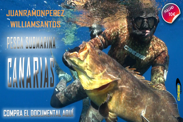 YA A LA VENTA EL DOCUMENTAL DE PESCA SUBMARINA EN CANARIAS CON JUAN RAMÓN PÉREZ Y WILLIAM SANTOS
